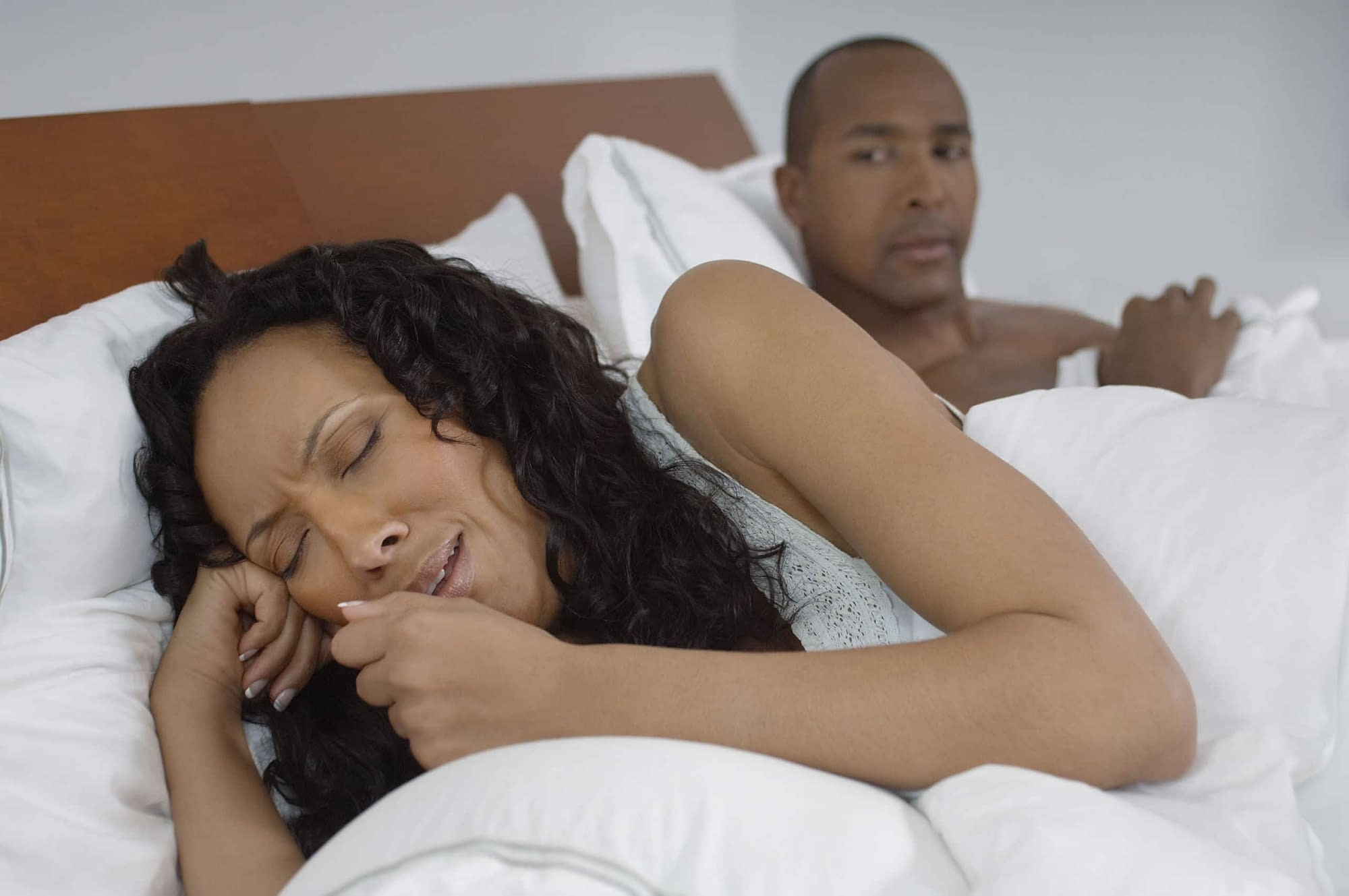 Upset woman rejected sex