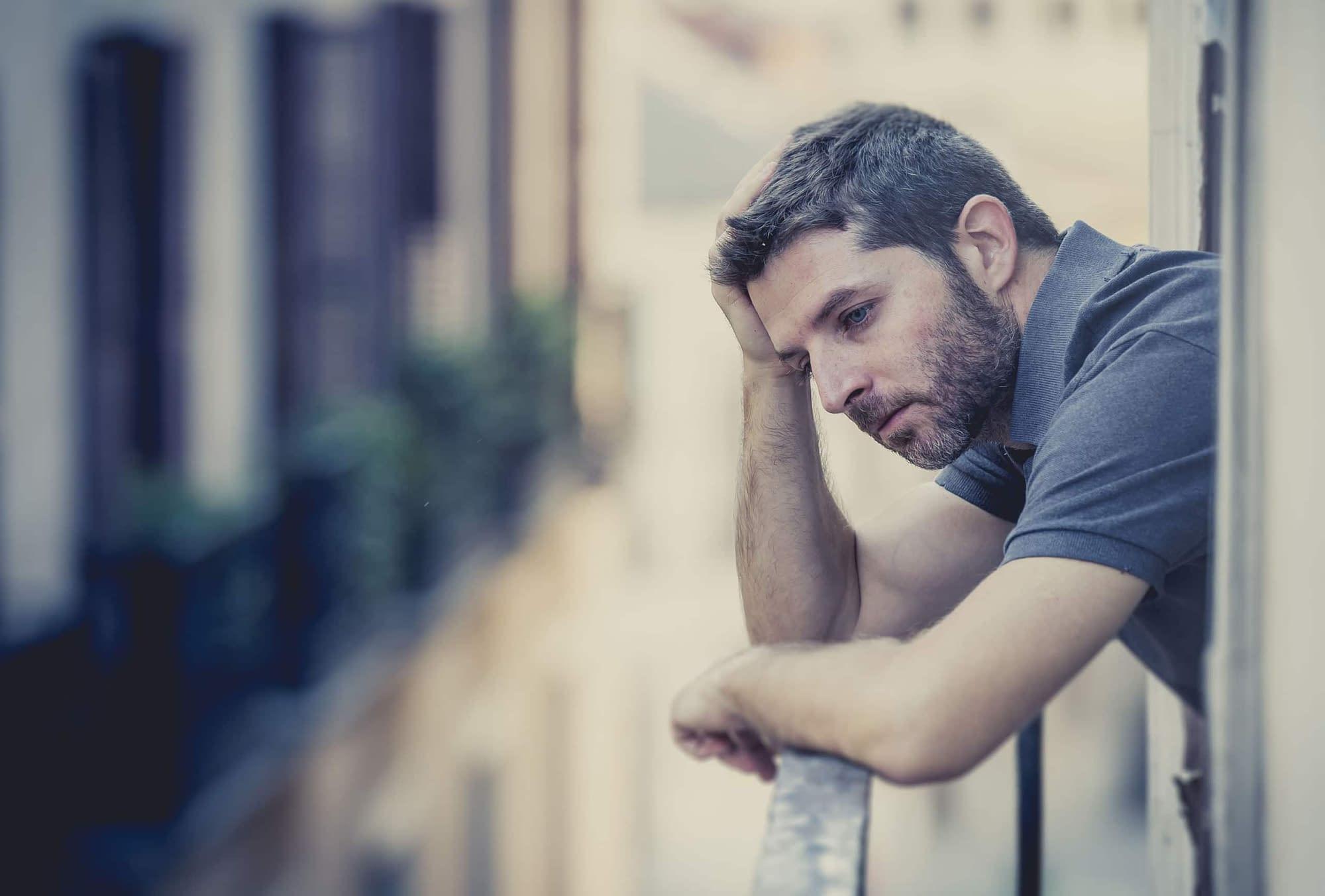 unhappy man to confident man