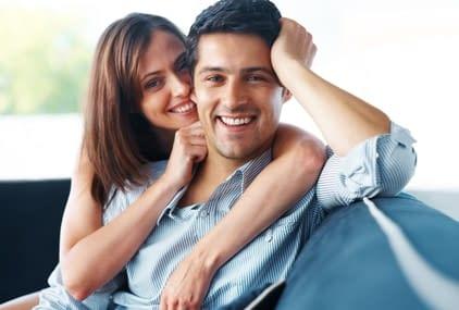 Happy husband and happy wife
