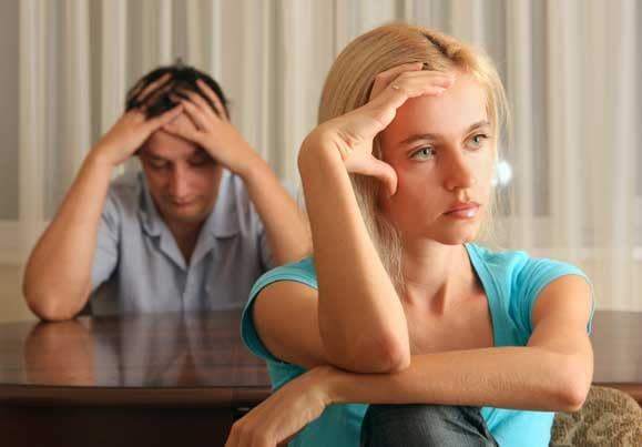 Wife ignoring desperate husband